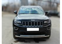 Защита переднего бампера двойная d60/53 для Jeep Grand Cherokee (2014-)
