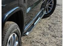 Пороги труба с накладками d76 для Jeep Grand Cherokee (2014-)