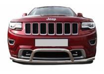 Защита переднего бампера с кенгурином d76 для Jeep Grand Cherokee (2014-)