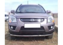 Защита переднего бампера d60 для Kia Sportage (2008-2010)