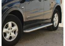 Пороги труба с листом d60 для Kia Sportage (2008-2010)