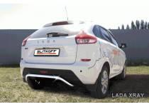 Защита заднего бампера d42 СКОБА для Lada XRAY (2016-)