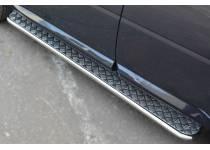 Пороги труба с листом d42 для Land Rover Freelander 2 (2013-)