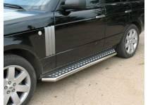 Пороги труба с листом d76 для Land Rover Range Rover (2005-2012)