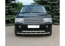 Защита переднего бампера двойная d76/76 для Land Rover Range Rover (2005-2012)