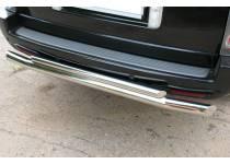 Защита заднего бампера двойная d76/42 для Land Rover Range Rover (2005-2012)