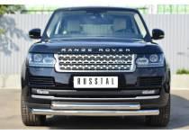 Защита переднего бампера двойная d76/63 для Land Rover Range Rover (2012-)