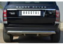 Защита заднего бампера овальная d75/42 для Land Rover Range Rover (2012-)