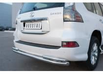 Защита заднего бампера двойная d63/42 для Lexus GX460 (2014-)