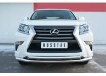 Защита переднего бампера двойная d63/63 для Lexus GX460 (2014-)