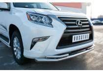 Защита переднего бампера двойная d63/42 для Lexus GX460 (2014-)