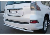 Защита заднего бампера длинная d63 для Lexus GX460 (2014-)