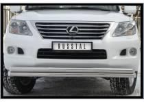 Защита переднего бампера двойная d70/70 для Lexus LX570 (2007-2012)