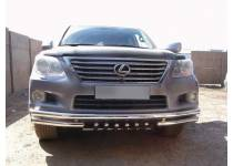 Защита переднего бампера d60 для Lexus LX570 (2007-2012)