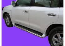 Защита штатных порогов d53 для Lexus LX570 (2007-2012)