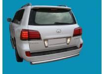Защита заднего бампера d70 для Lexus LX570 (2007-2012)