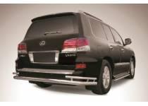 Защита заднего бампера d76/42 для Lexus LX570 (2012-2014)