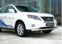 Защита переднего бампера d76 для Lexus RX 270/350/450h (2010-2012)