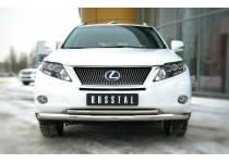 Защита переднего бампера двойная d76/42 для Lexus RX 270/350/450h (2010-2012)