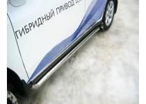 Пороги труба d76 для Lexus RX 270/350/450h (2010-2012)