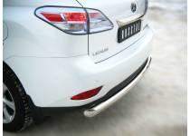Защита заднего бампера d76 для Lexus RX 270/350/450h (2010-2012)