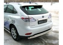Защита заднего бампера двойная d76/42 для Lexus RX 270/350/450h (2010-2012)