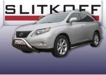 Кенгурятник низкий с защитой картера d76 для Lexus RX 270/350/450h (2010-2012)