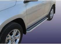 Пороги с листом d57 для Lexus RX 270/350/450h (2010-2012)