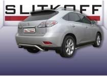 """Защита заднего бампера """"волна"""" d57 для Lexus RX 270/350/450h (2010-2012)"""