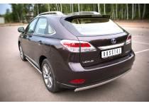 Защита заднего бампера овальная d75/42 для Lexus RX 270/350/450h (2013-)