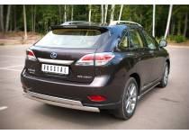 Защита заднего бампера двойная овальная d75/42 для Lexus RX 270/350/450h (2013-)