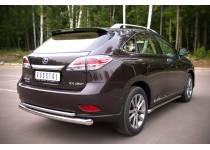 Защита заднего бампера двойная d76/42 для Lexus RX 270/350/450h (2013-)