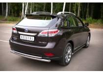 Защита заднего бампера двойная d63/42 для Lexus RX 270/350/450h (2013-)
