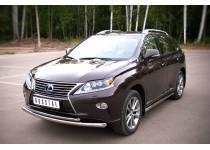 Защита переднего бампера двойная d63/42 для Lexus RX 270/350/450h (2013-)