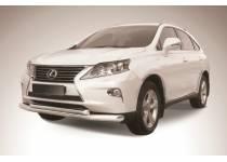 Защита переднего бампера двойная d76/57 для Lexus RX 270/350/450h (2013-)