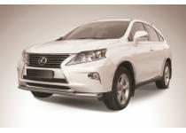 Защита переднего бампера двойная d57/57 для Lexus RX 270/350/450h (2013-)