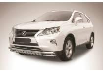 Защита переднего бампера двойная с защитой картера d57/57 для Lexus RX 270/350/450h (2013-)