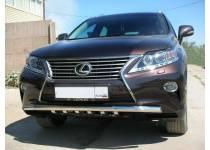 Защита переднего бампера d60 для Lexus RX 270/350/450h (2013-)