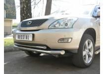 Защита переднего бампера двойная d63/42 для Lexus RX 300/330/350 (2003-2009)