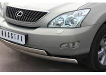 """Защита переднего бампера двойная """"овал"""" d75/42 для Lexus RX 300/330/350 (2003-2009)"""