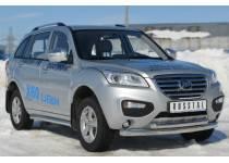 Защита переднего бампера двойная d76/63 для Lifan X60 (2011-)