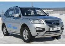 Защита переднего бампера двойная овальная d75/42 для Lifan X60 (2011-)