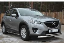 Защита переднего бампера двойная d63/42 для Mazda CX5 (2012-)