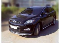 Защита переднего бампера d53 для Mazda CX-7 (2006-2010)