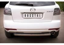Защита заднего бампера d75/42 для Mazda CX-7 (2010-2012)