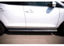 Пороги труба (вариант 3) d63 для Mazda CX-7 (2010-2012)