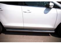 Пороги труба (вариант 2) d63 для Mazda CX-7 (2010-2012)