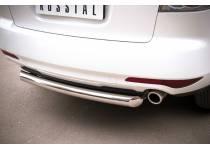 Защита заднего бампера d76 для Mazda CX-7 (2010-2012)