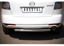Защита заднего бампера d63 для Mazda CX-7 (2010-2012)