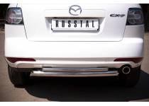 """Защита заднего бампера """"дуга"""" d63/42 для Mazda CX-7 (2010-2012)"""